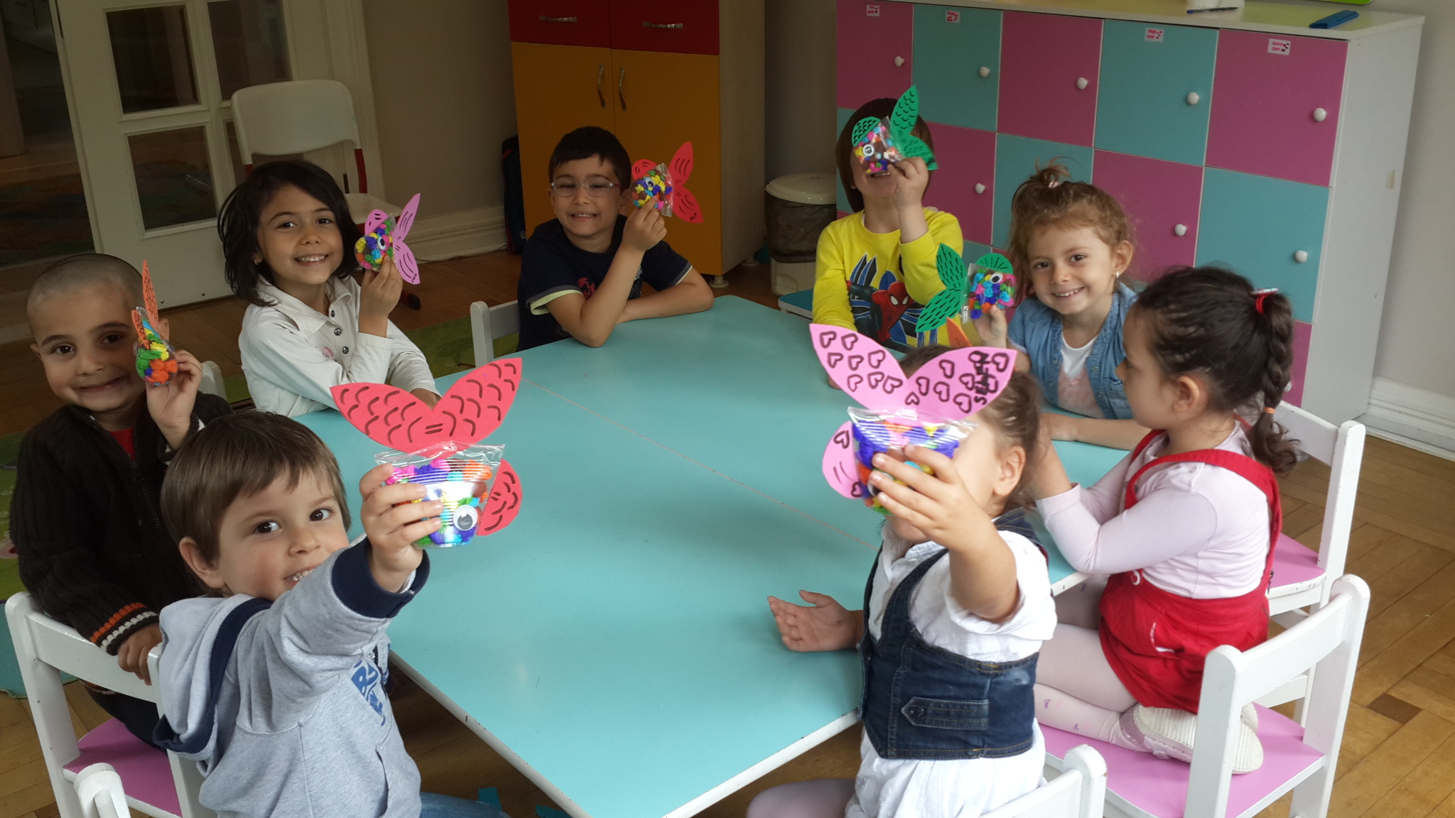 Kelebekler ve Uğur Böcekleri Sınıfı  Sanat Etkinliği
