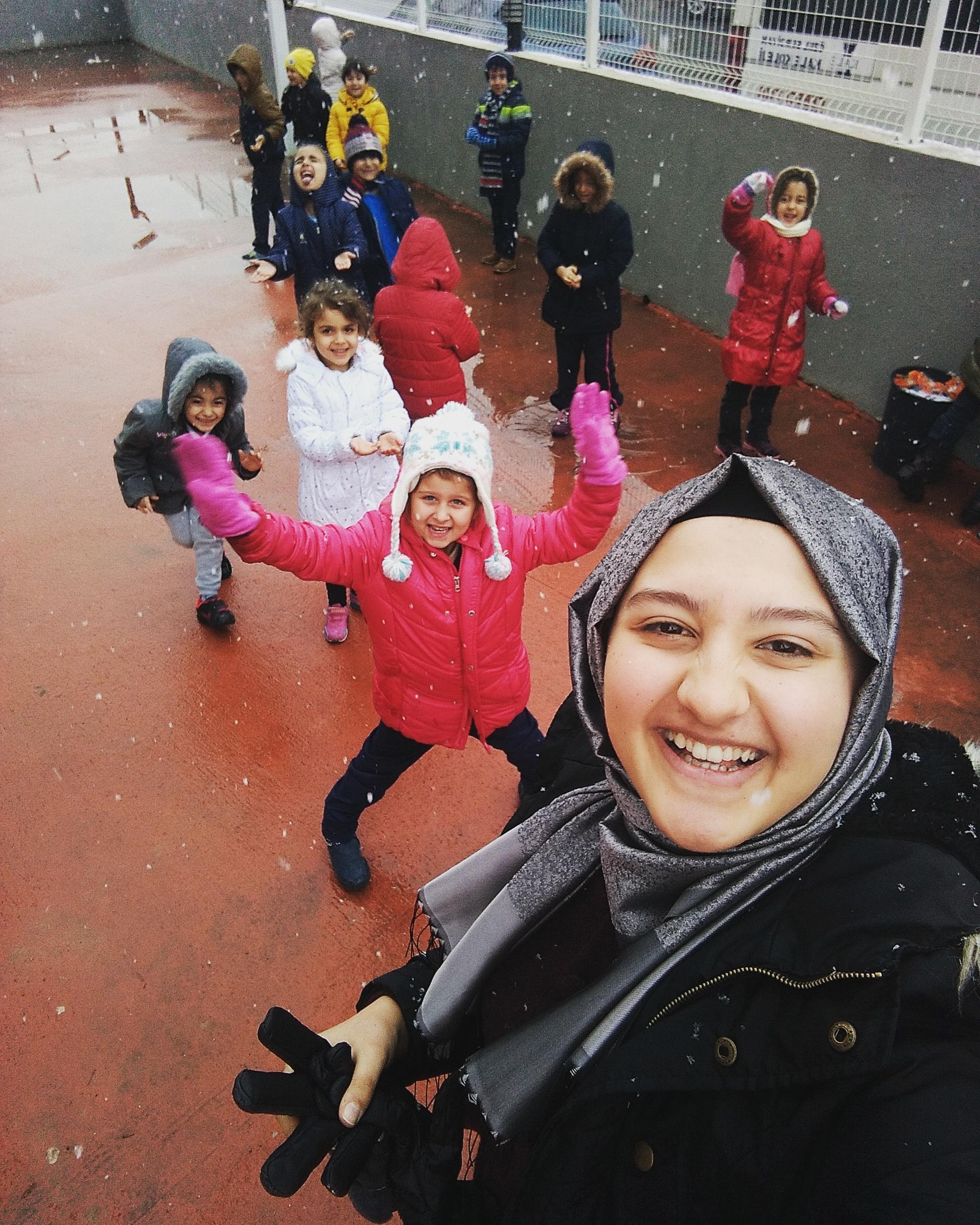 Yılın İlk Karını Çocuklarla Birlikte Karşıladık