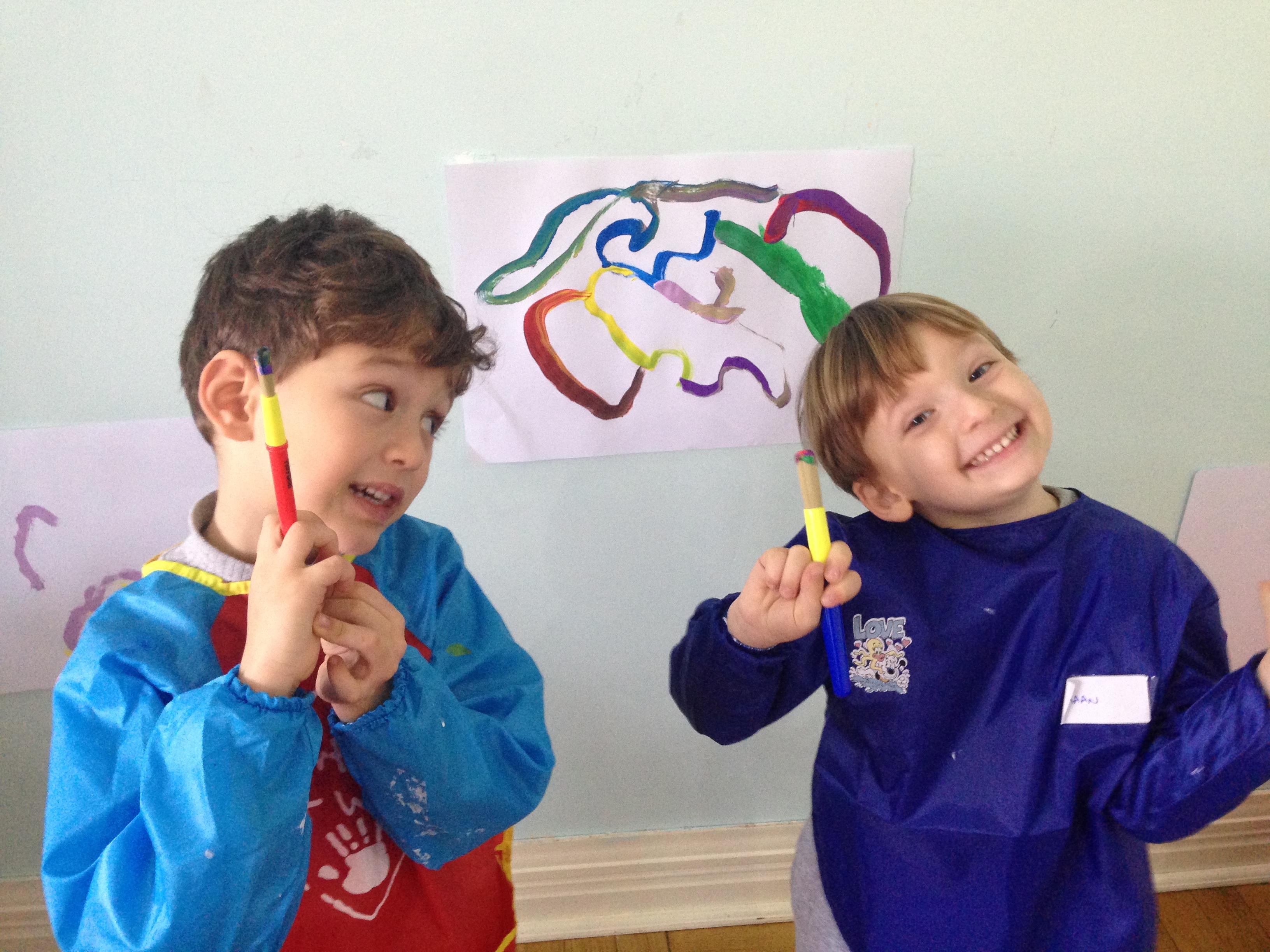 Yunuslar Sınıfı Serbest Resim Çalışması