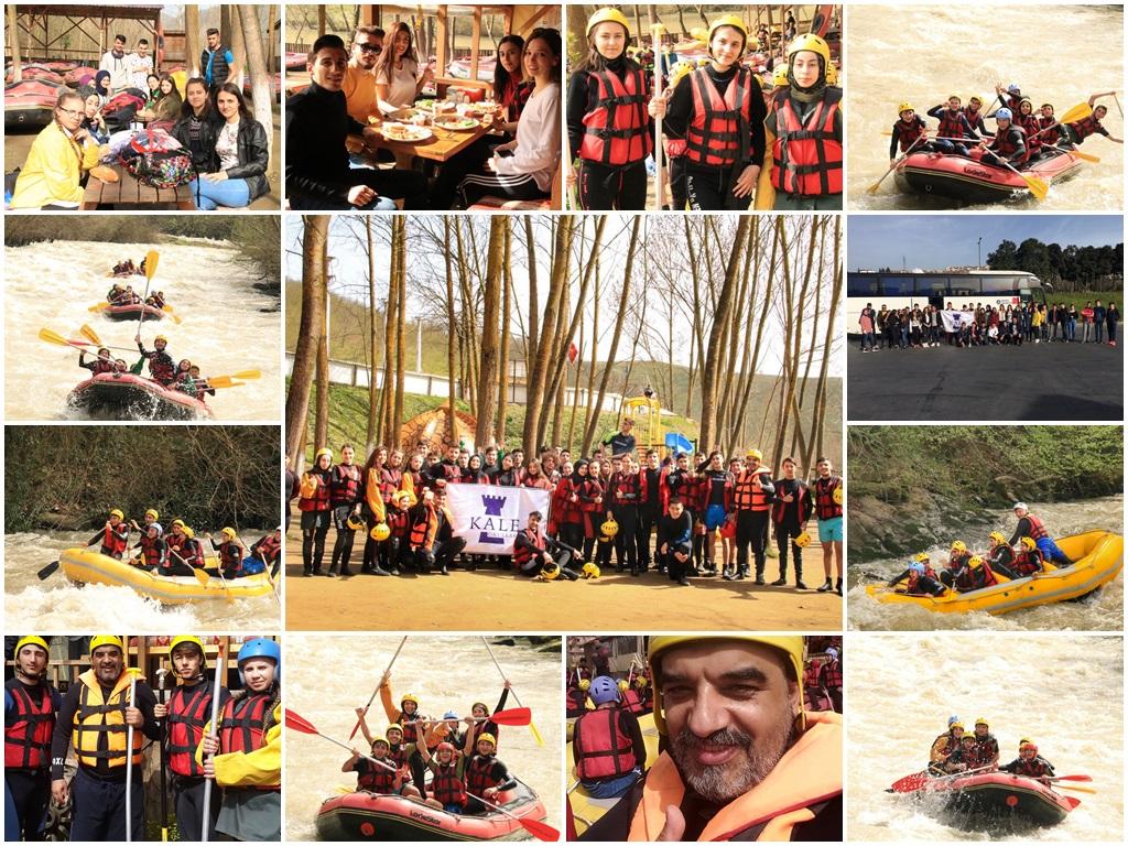 Özel Gebze Anadolu Sağlık Meslek Lisesi Rafting etkinliği