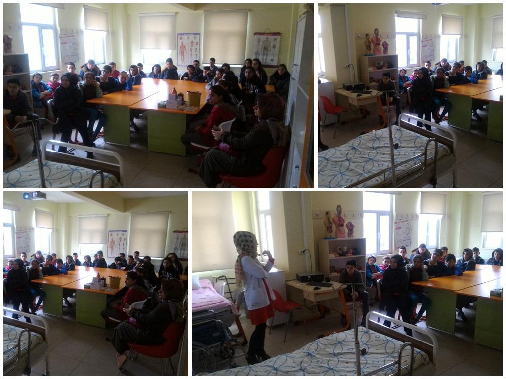 Gebze Zübeyde Hanım Ortaokulu Hemşirelik Mesleğini yerinde kavramak için okulumuzu ziyarette bulundu